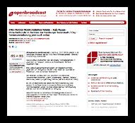 Grafik: Pressebericht Openbroadcast - HNO in Hamburg-Zentrum, Terminvereinbarung jetzt auch online