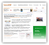 Grafik: Pressebericht OpenPR - HNO Hamburg-Zentrum bietet Online-Termine an