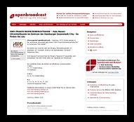 Grafik: Pressebericht Openbroadcast - HNO in Hamburg-Zentrum