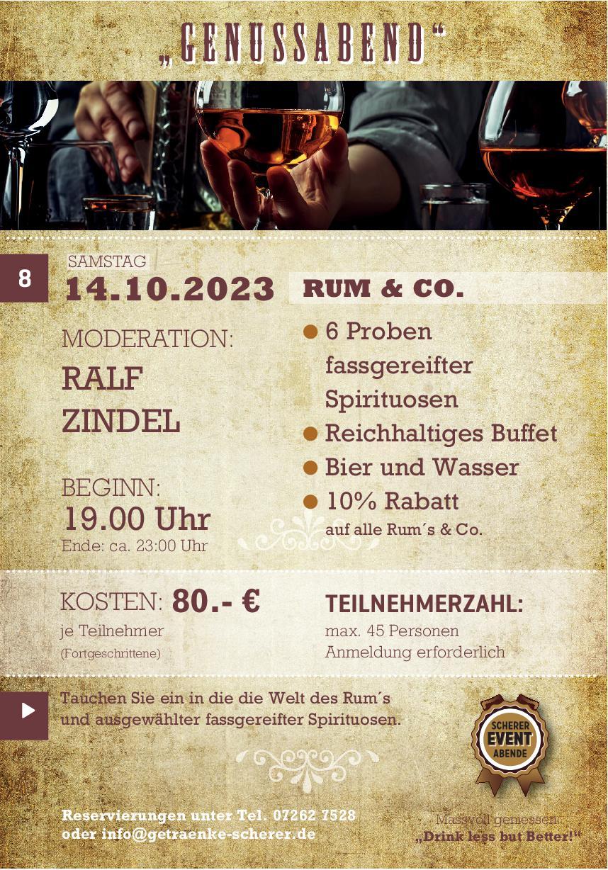 Tasting mit Ralf Zindel bei Getränke Scherer in Eppingen.