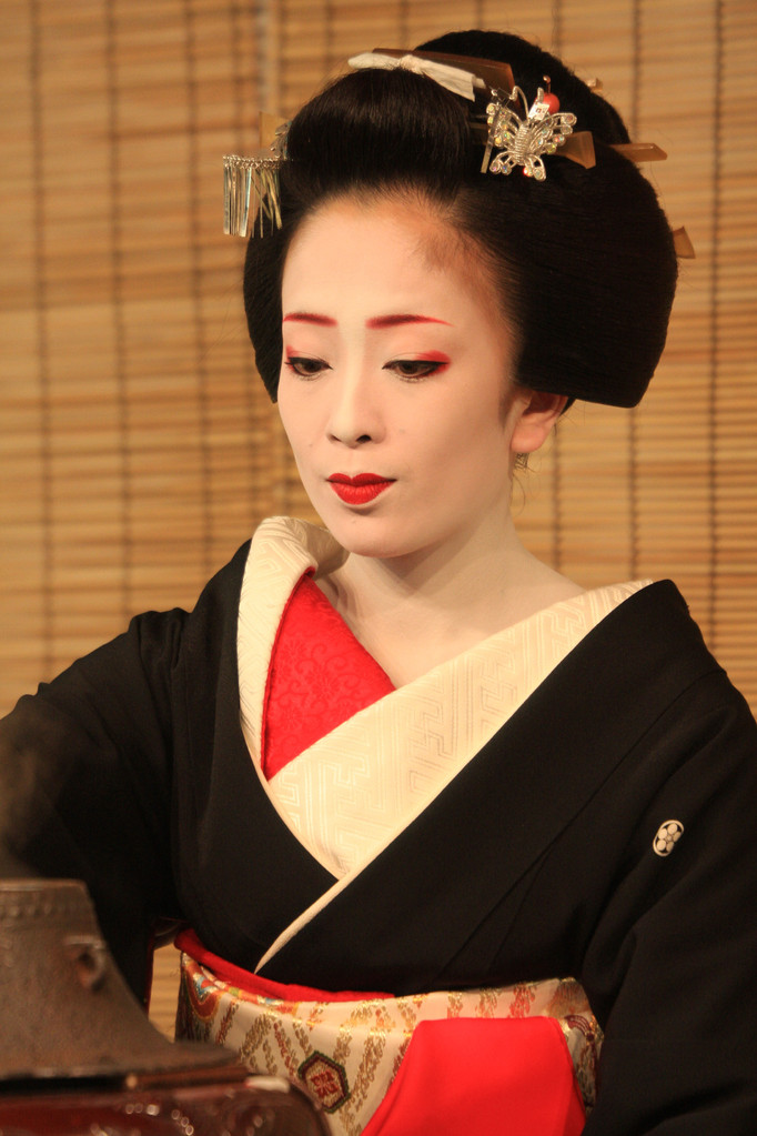 Tea ceremony before Miyako Odori at Gionkobu Kaburenjo Theater, Kyōto