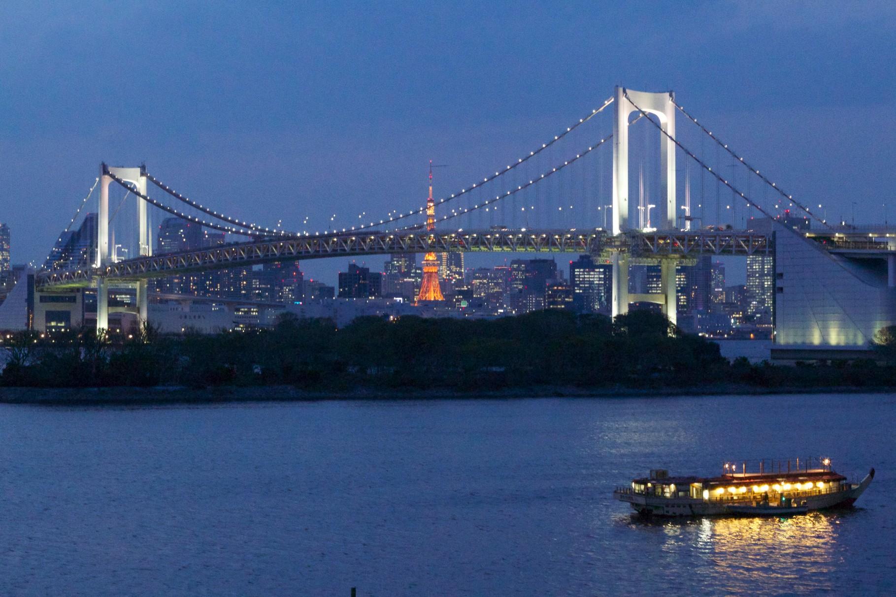東京, レインボーブリッジ Tōkyō, Rainbow bridge