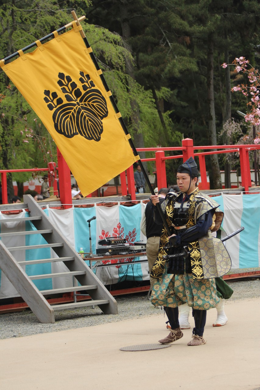 京都市 Kyōto, Daigoji, Ho-Taiko Hanami Gyoretsu (Toyotomi Hideyoshi's cherry blossom viewing parade)
