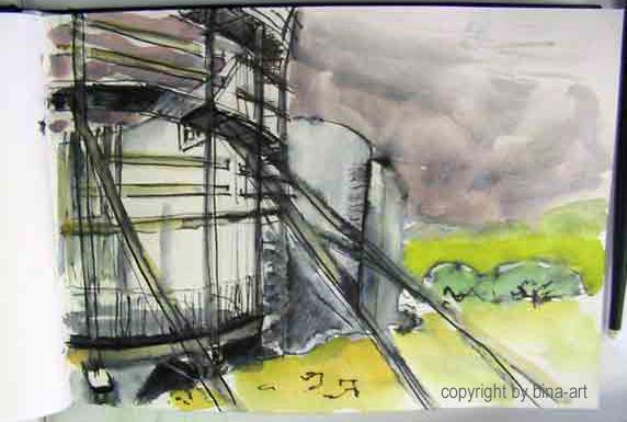 Wasserturm Polch Skizze