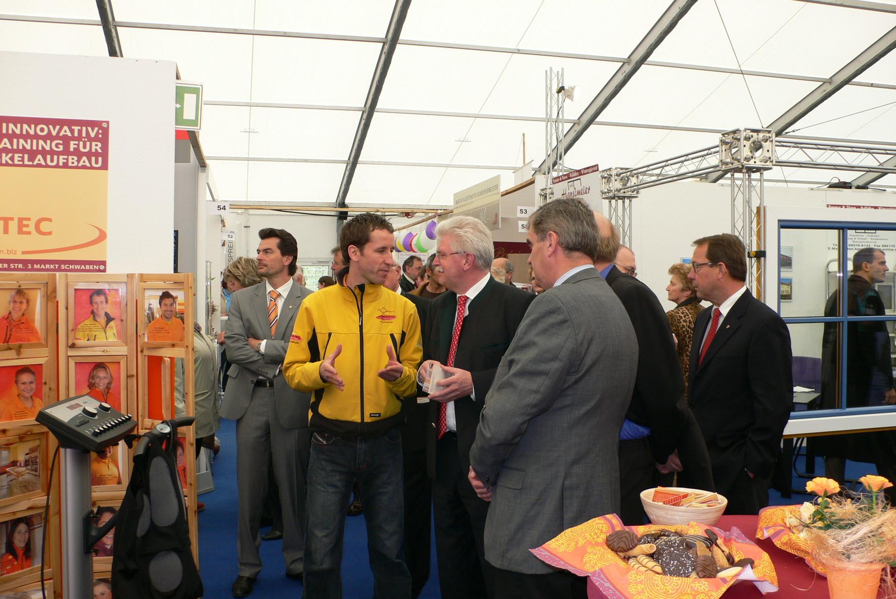 Ansgar Spörlein mit dem bayrischen Wirtschaftsminister Zeil