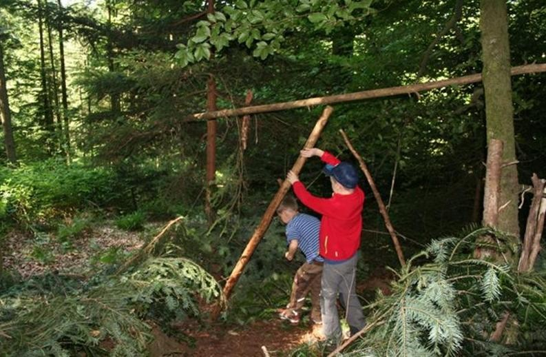Waldwoche - Hütten bauen