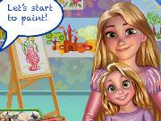 Игра урок рисования с Рапунцель