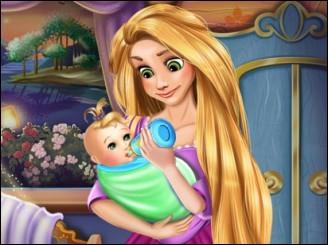 Уход за новорожденным ребенком Рапунцель