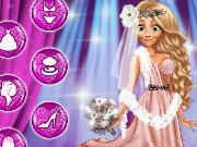Игра одевалка Рапунцель в свадебном салоне