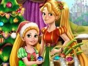 Игра елочка на Новый год в семье Рапунцель