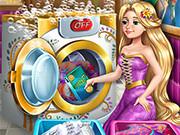 Игра онлайн Рапунцель в прачечной