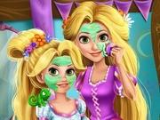 Игра макияж Рапунцель и ее дочки