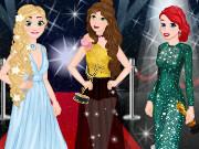 Игра одевалка принцессы на красной ковровой дорожке