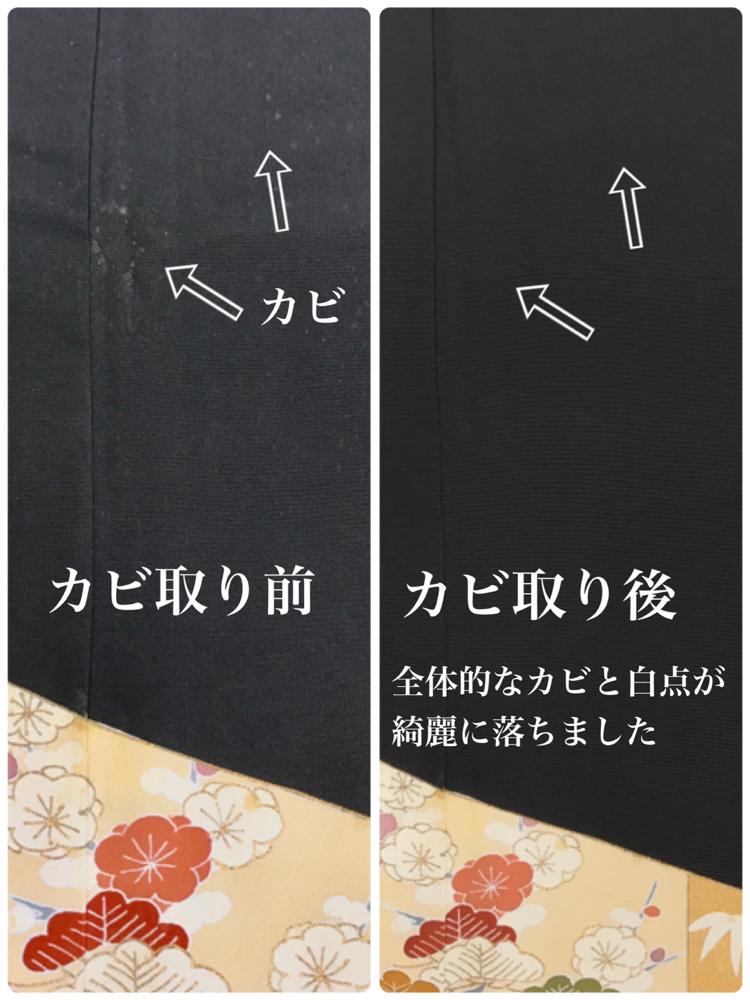 着物カビ取り 着物お手入れ 丸洗い しみ抜き 着物クリーニング 横須賀
