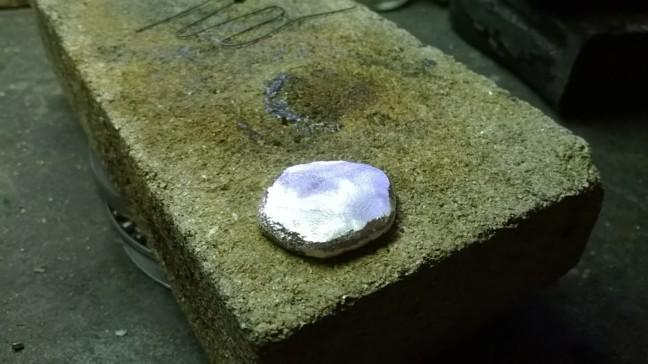 Brut argent laminé fonction de l'épaisseur de la pierre