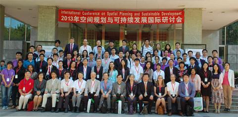 SPSD2013の集合写真(精華大学建築学院前)