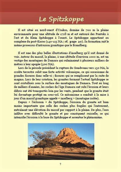 Le Spitzkoppe ; Géologie, faune et flore de Namibie