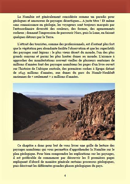 La géologie namibienne ; Géologie, faune et flore de Namibie