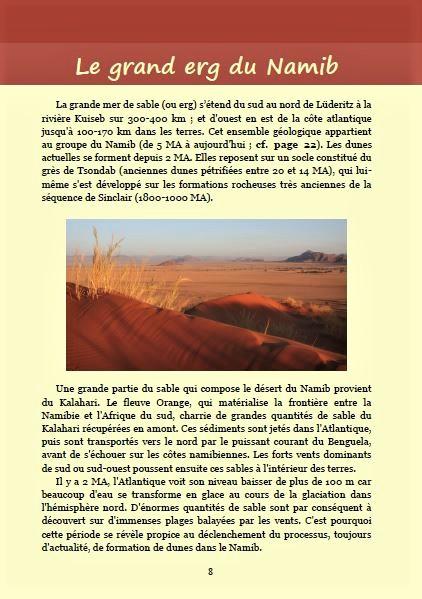 Le grand erg du Namib ; Géologie, faune et flore de Namibie