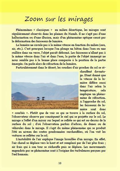 Les mirages ; Géologie, faune et flore de Namibie