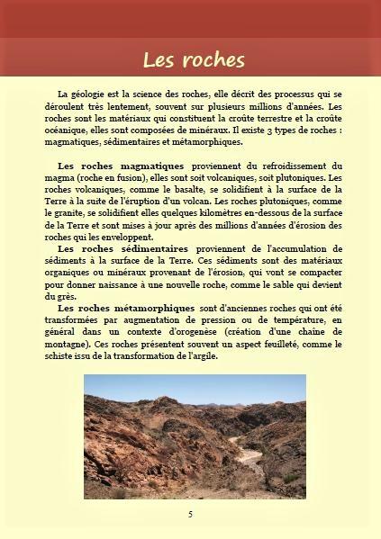 Les roches ; Géologie, faune et flore de Namibie