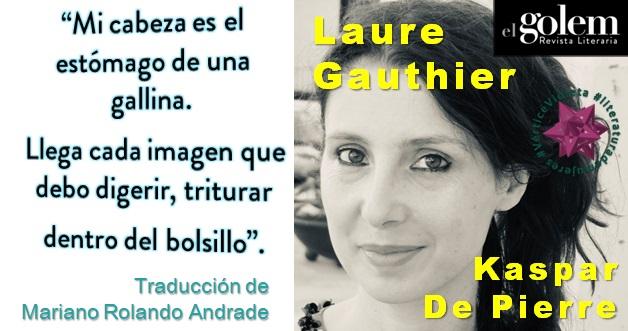 Poemas, poesía. Laure Gauthier.