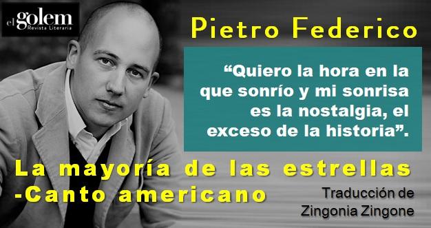 Poemas, poesía. Pietro Federico.
