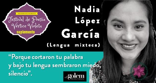 Poemas de Nadia López García (Lengua Mixteca)