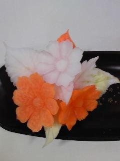 カービング タイの花-2