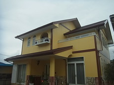 コロニアル屋根遮熱塗装 熊本N様家。