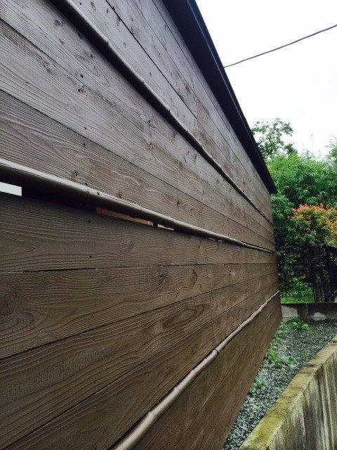 熊本〇様家の外壁木部塗装完成です。高耐久・高機能形木材保護塗装を行いました。
