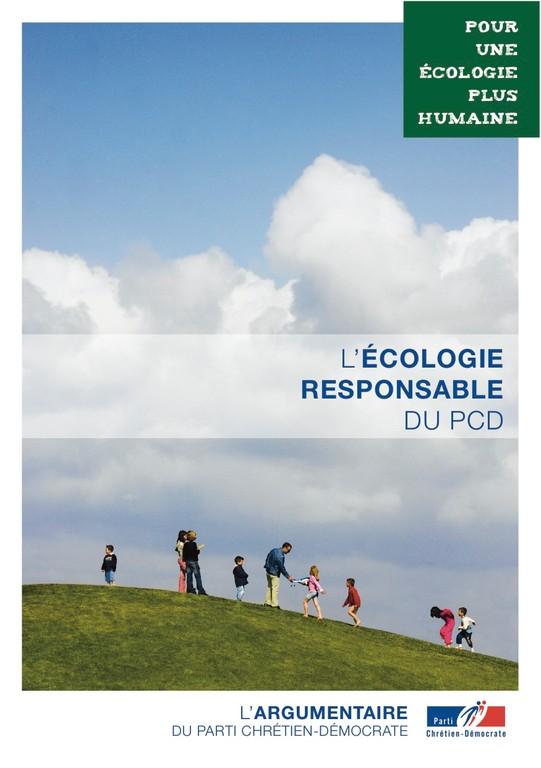 Argumentaire 3 - Ecologie - L'Ecologie responsable