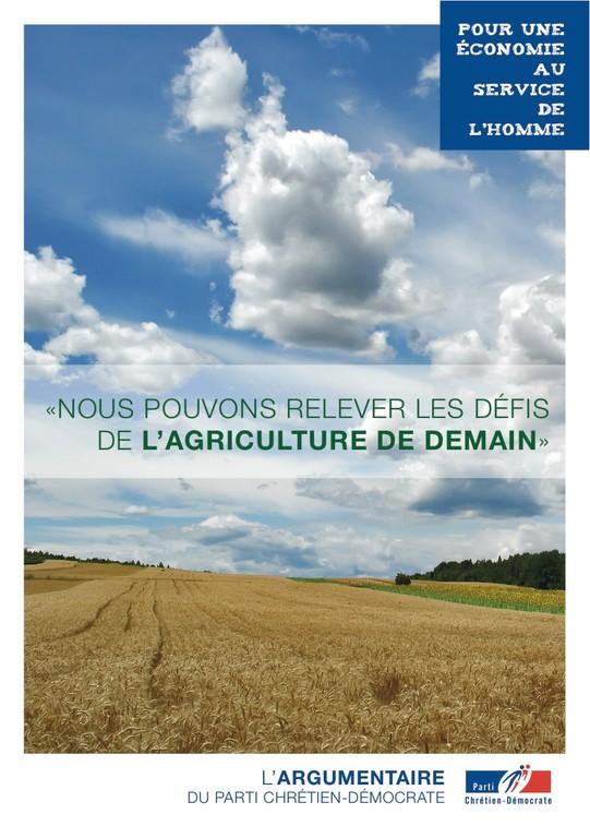 Argumentaire 7 - Agriculture & Ruralité - Rapport Natioanl du Parti Chrétien-Démocrate