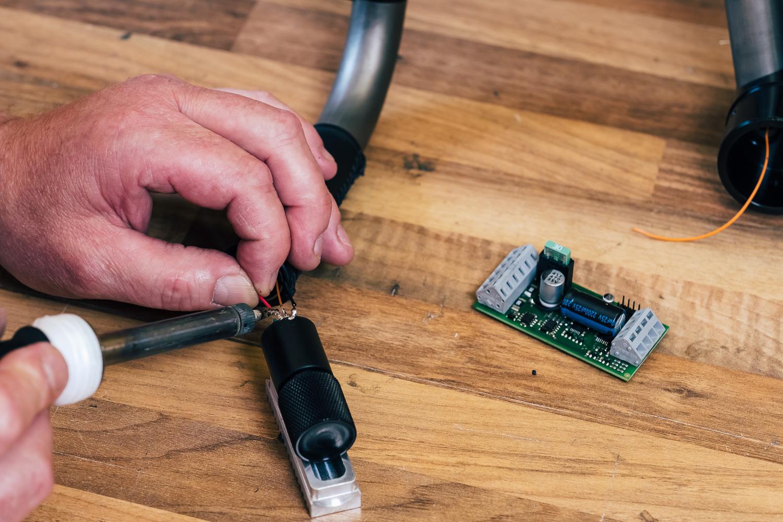 Montage der Elektronik-Komponenten
