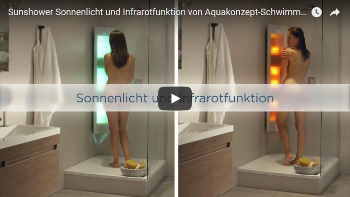 Sunshower Sonnenlicht und Infrarotfunktion Video von Aquakonzept-Schwimmbadtechnik