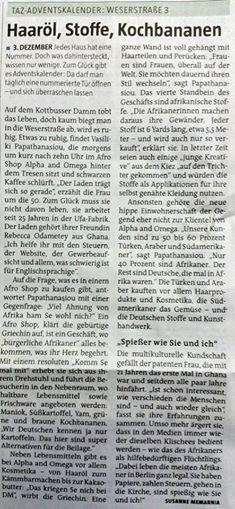 taz Bericht 03.12.2014