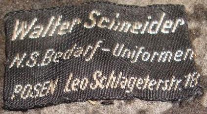 Stoffetikett Schneider Berlin