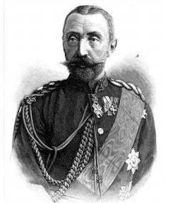 Hermann Fürst von Hohenlohe-Langenburg, EK2 1870 am weiß-schwarzen Band nebst erster Klasse, zeitg. Abbildung um 1900