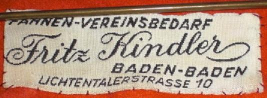 Stoffetikett Kindler Baden-Baden