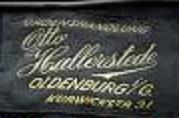 Stoffetikett Otto Hallerstede, Oldenburg