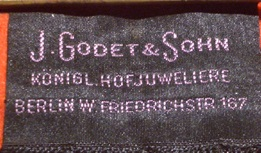 Godet & Sohn frühe Fertigung ca. um 1900 Variante