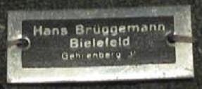 Stoffetikett Hans Brüggemann Bielefeld