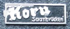 Blechschildchen Korn Saarbrücken