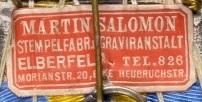 Stoffetikett Salomon Elberfeld