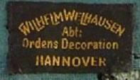 Stoffetikett Wilh. Weilhausen Hannover