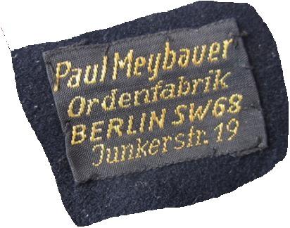 Stoffetikett Paul Meybauer Berlin