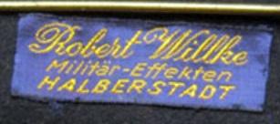 Stoffetikett Rob. Wilke Halberstadt