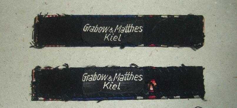Stoffetikett Grabow & Matthes Kiel