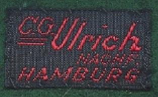 Stoffetikett C.G. Ullrich Nachfolger Hamburg