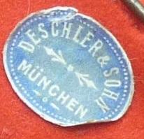Werbeaufkleber Deschler München